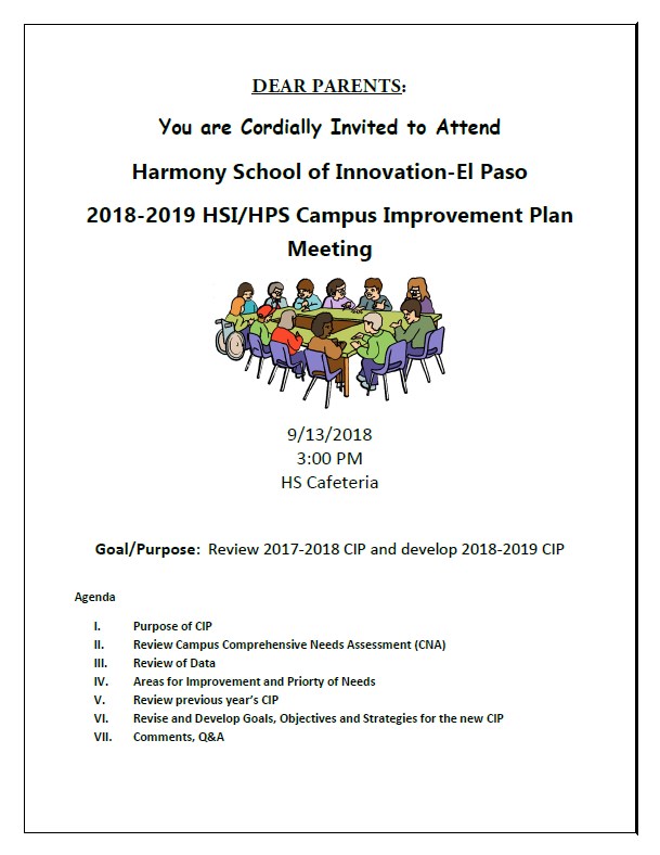 An image of the Campus Involvement Plan flier