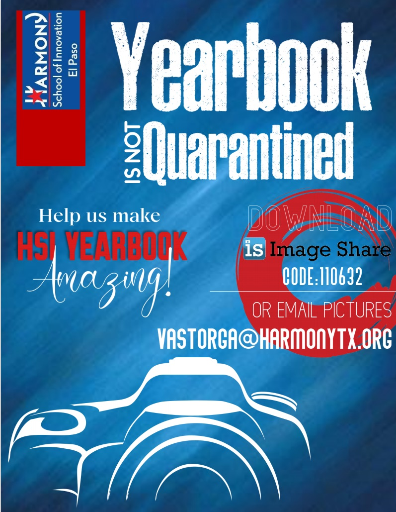 An image of the HSI El Paso Yearbook photos flyer.