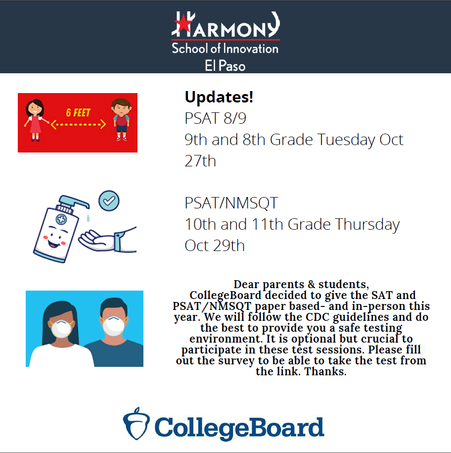 An image of the PSAT flyer.