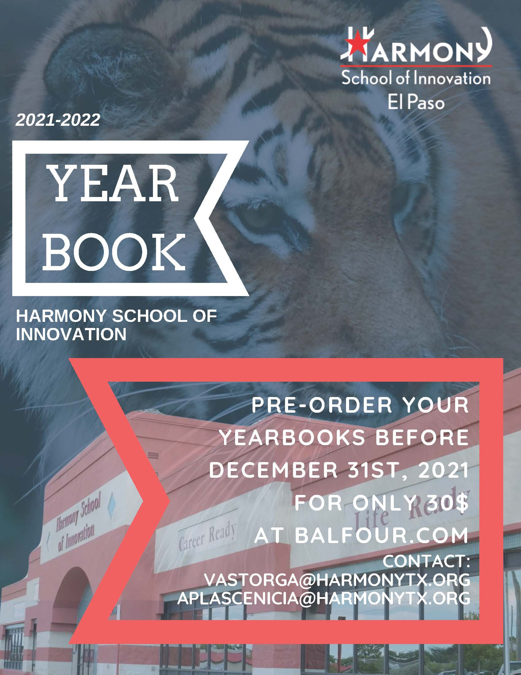 An image of the 2021 yearbook pre-order flyer