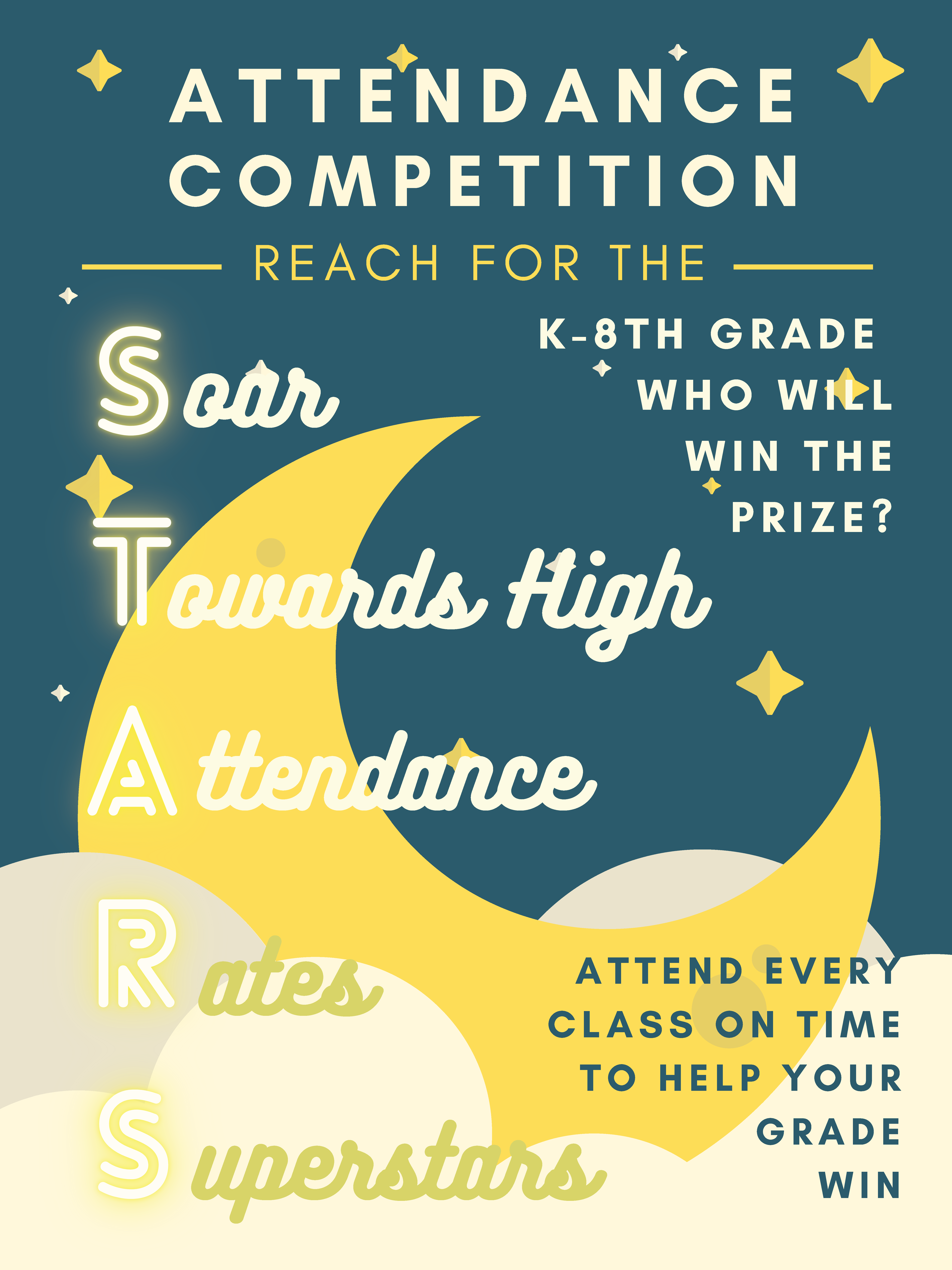 An image of the K-8th Grade Attendance Competition flyer.